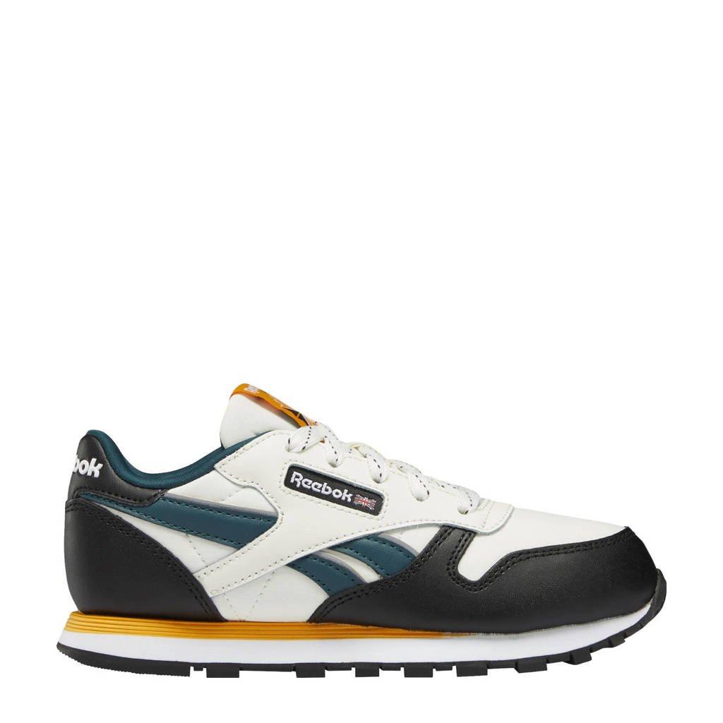 Reebok Classics Classic Leather  sneakers beige/zwart/geel, Beige/zwart/geel