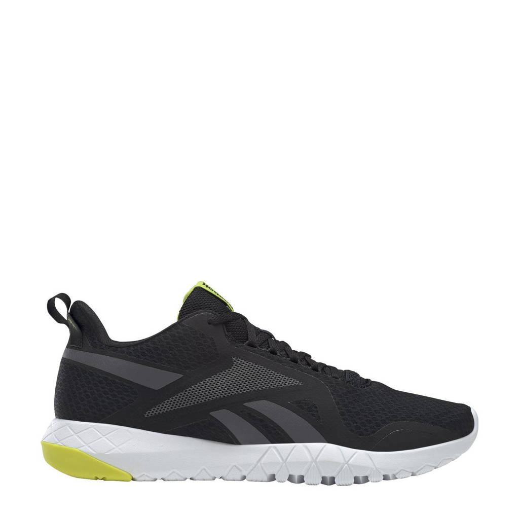 Reebok Training Flexagon Force 3,0 sportschoenen zwart/wit, Zwart/grijs/geel