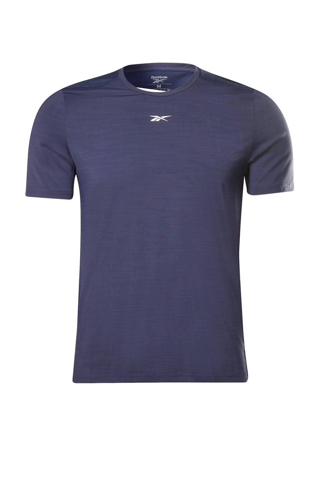 Reebok Training   sport T-shirt donkerblauw, Donkerblauw