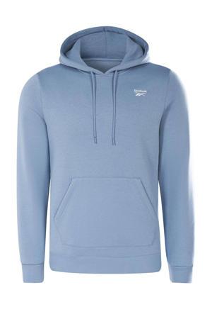 fleece hoodie grijsblauw