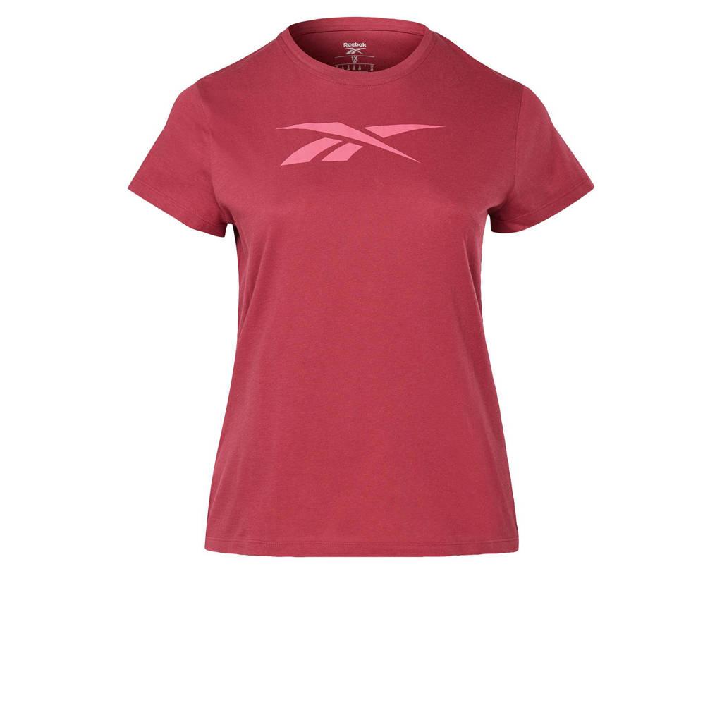 Reebok Training Plus Size sport T-shirt fuchsia, Fuchsia