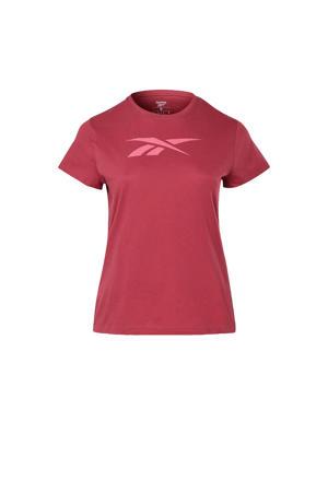 Plus Size sport T-shirt fuchsia