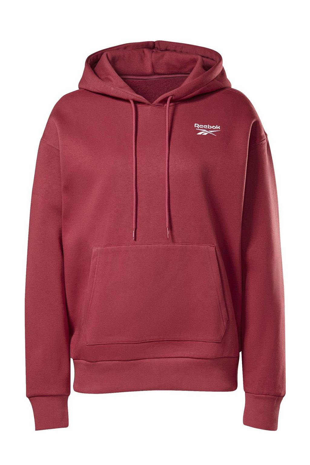 Reebok Classics fleece hoodie fuchsia, Fuchsia