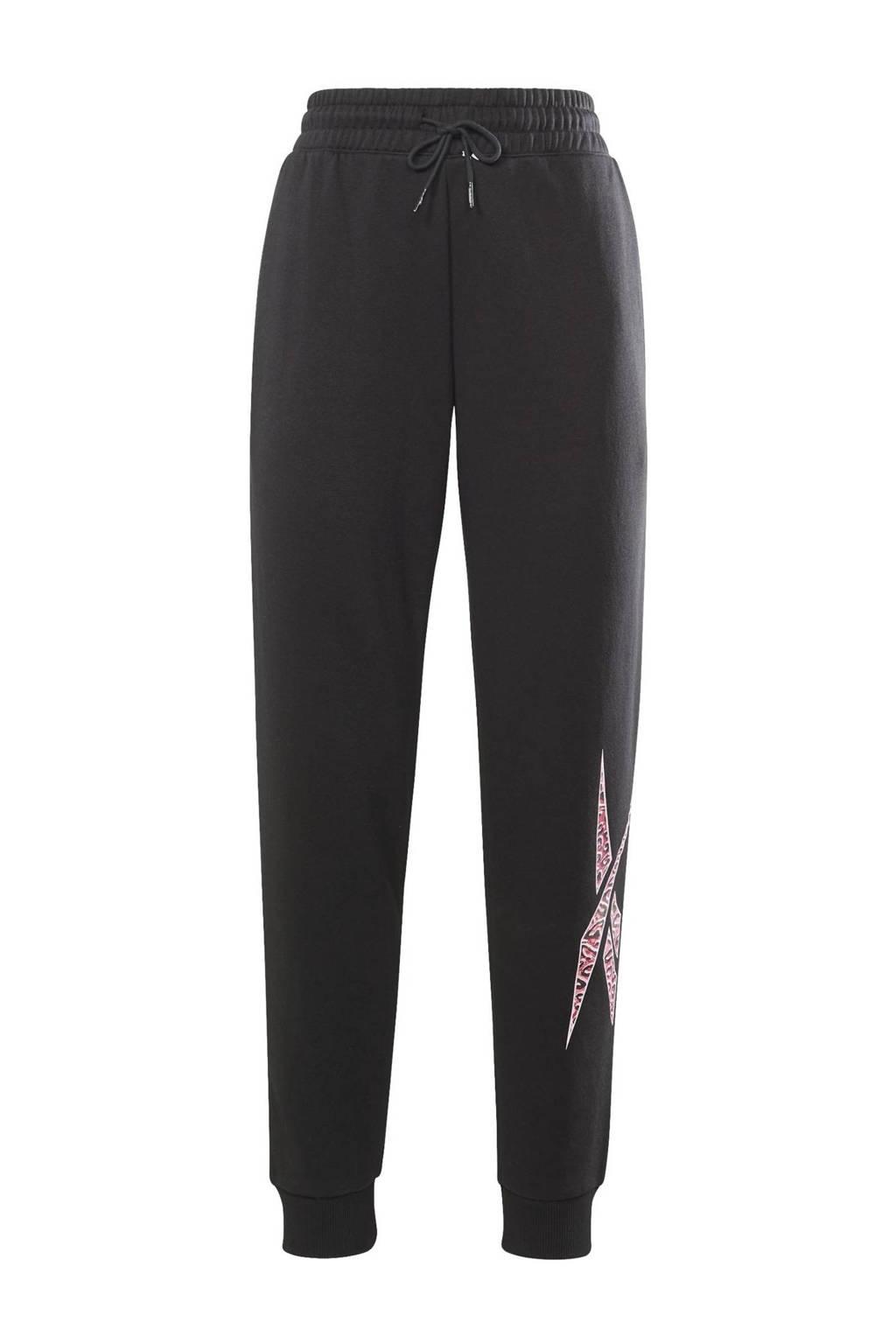 Reebok Training fleece joggingbroek zwart, Zwart