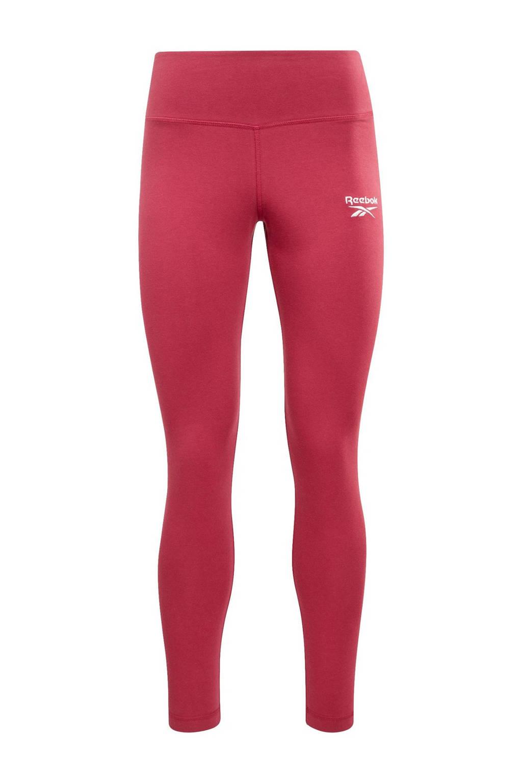 Reebok Classics slim fit legging met logo donkerroze, Donkerroze