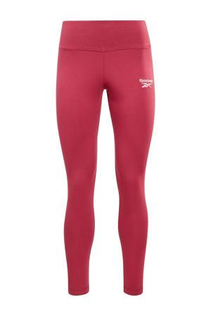 slim fit legging met logo donkerroze
