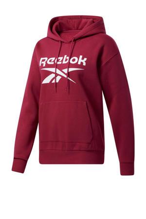 fleece hoodie rood