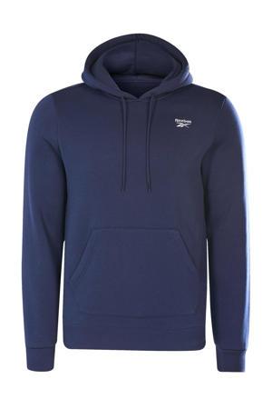 fleece hoodie donkerblauw