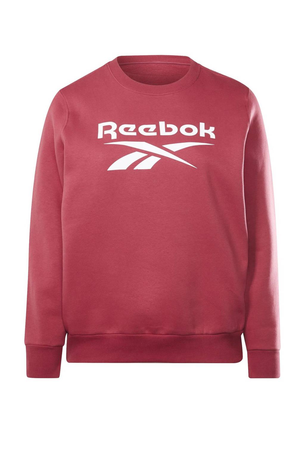 Reebok Classics Plus Size fleece sweater fuchsia, Fuchsia