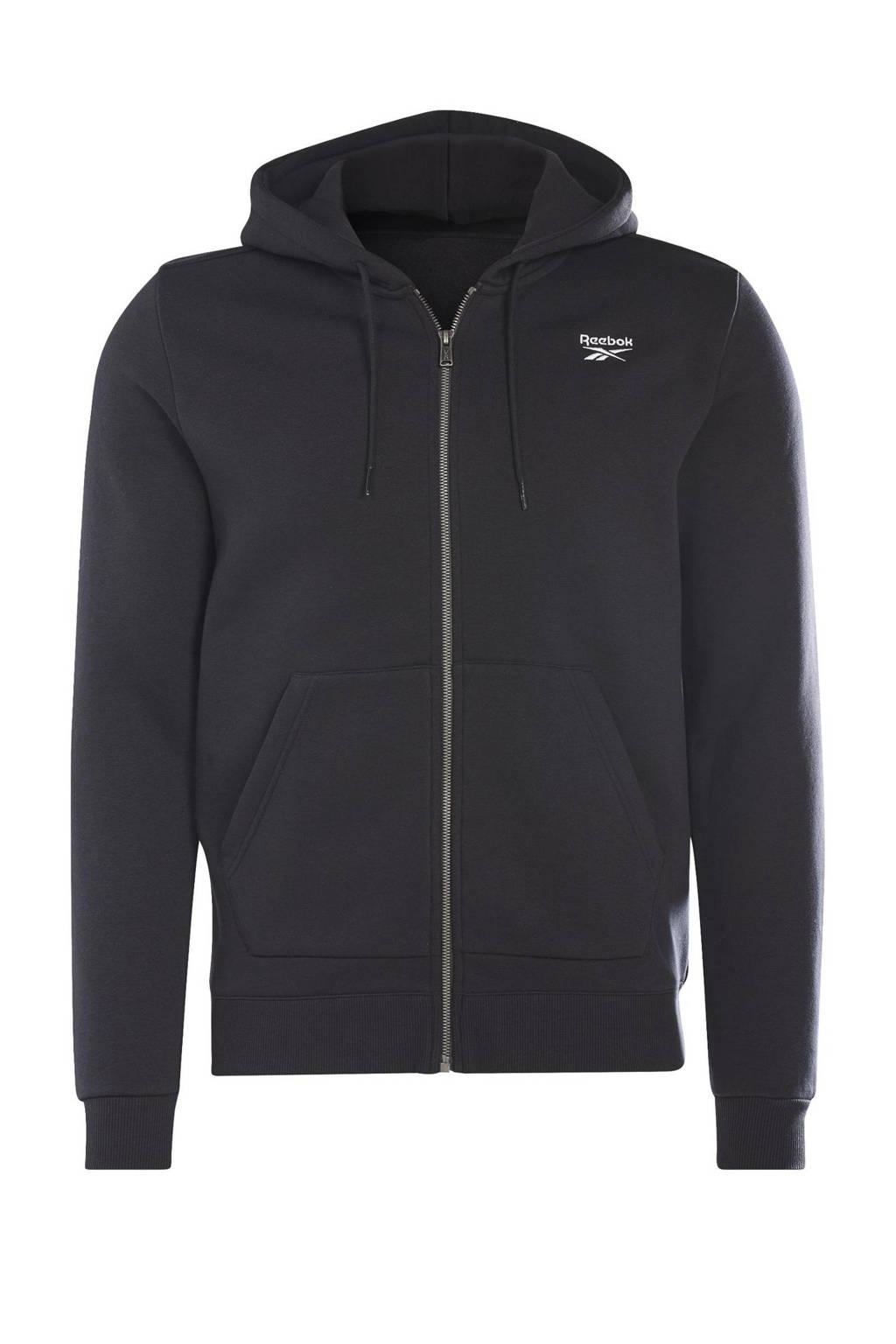 Reebok Classics fleece vest zwart, Zwart