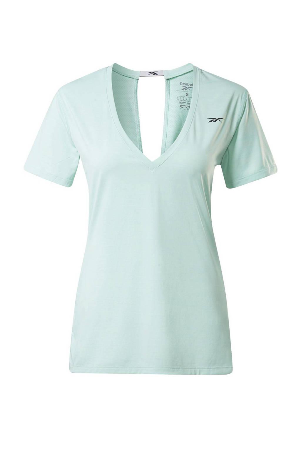 Reebok Training sport T-shirt mintgroen, Mintgroen