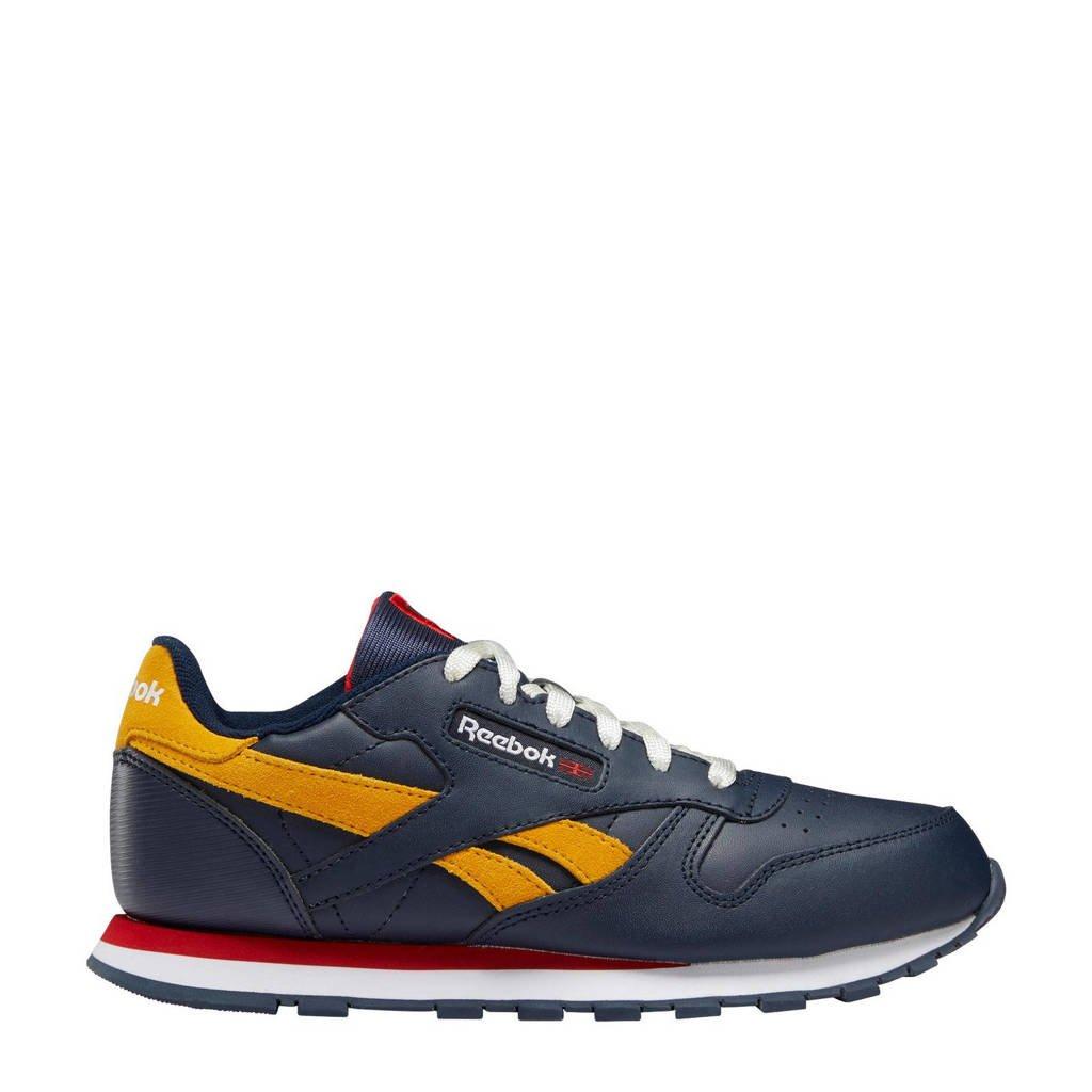 Reebok Classics Classic Leather  sneakers donkerblauw/rood/geel, Donkerblauw/rood/geel