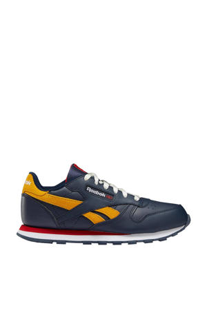 Classic Leather  sneakers donkerblauw/rood/geel