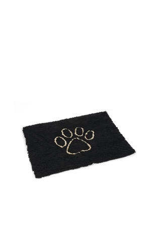 droogloopmat Dirty Dog zwart 90x66 cm