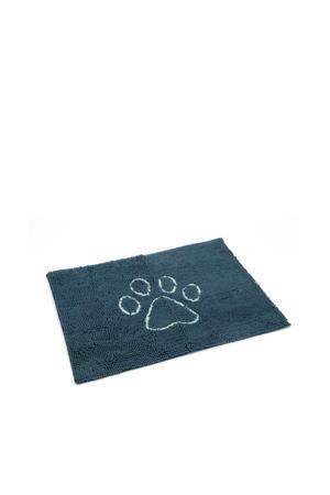 droogloopmat Dirty Dog blauw 90x66 cm