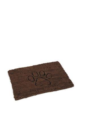 droogloopmat Dirty Dog bruin 90x66 cm