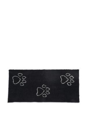 droogmat loper Dirty Dog zwart 152x76 cm