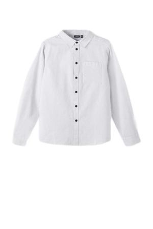 overhemd NLMRAGN met all over print lichtgrijs