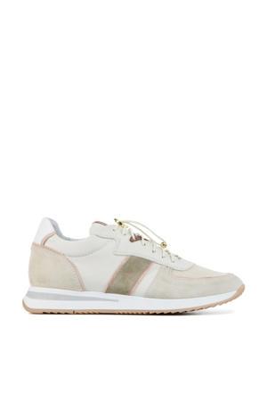 5602018  suède sneakers beige/roze