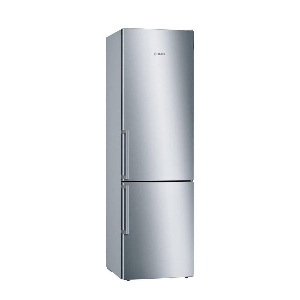 Bosch KGE398IBP koel/vries combinatie, Roestvrijstaal