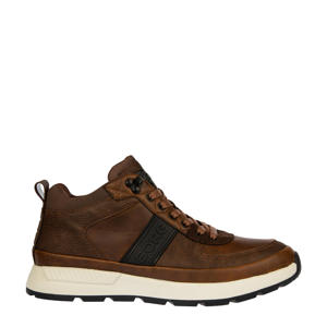 H100 MID TMP M  suède sneakers bruin