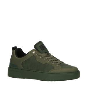 T1900 TNL M  suède sneakers olijfgroen