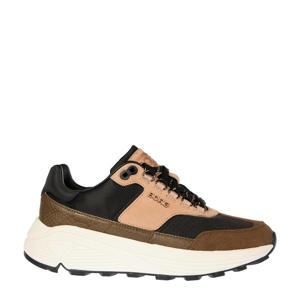 R1300 CTR EXT W  leren sneakers zwart/roze/bruin