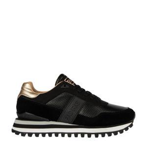 R2000 DLX W  suède sneakers zwart/roségoud