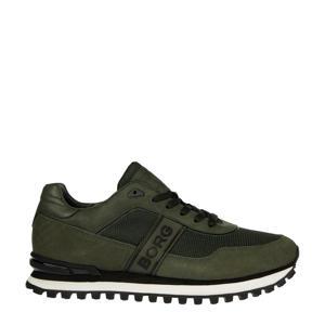 R2000 NYL M  suède sneakers olijfgroen