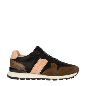 R455 CTR W  suède sneakers zwart/bruin/beige