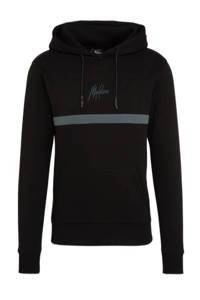Malelions hoodie Tonny met logo 906 black/antra, 906 Black/Antra