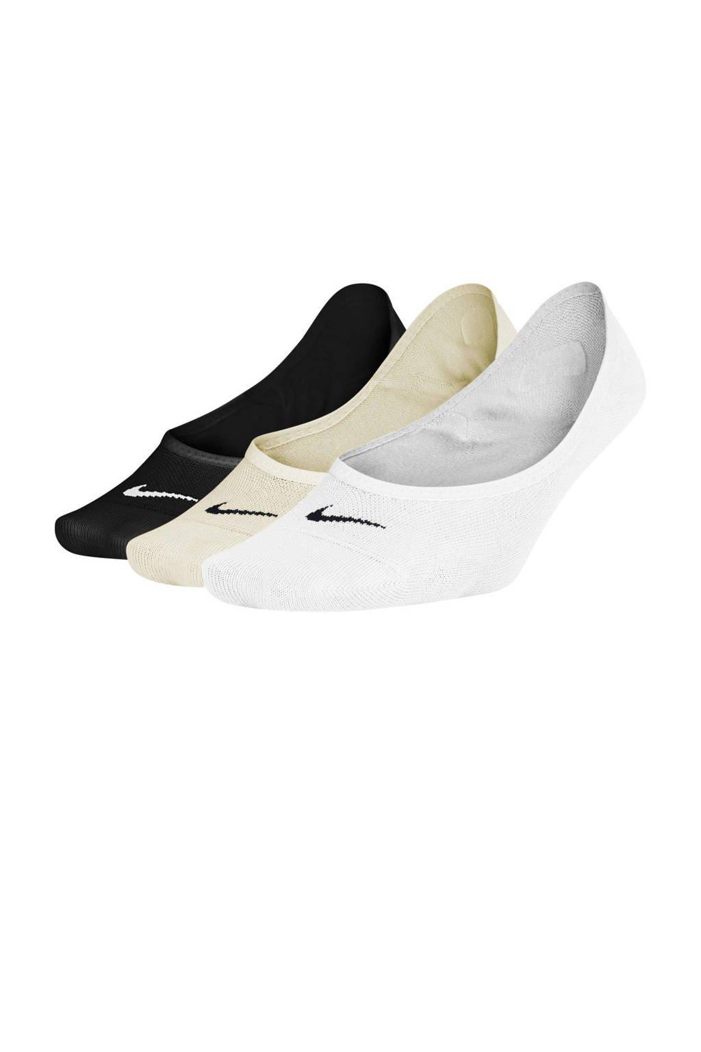 Nike sportsokken Everyday Lightweight zwart/beige/wit, zwart/ beige/wit