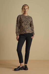 MAMALICIOUS zwangerschapssweater MLLEOVE met panterprint bruin/zwart, Bruin/zwart