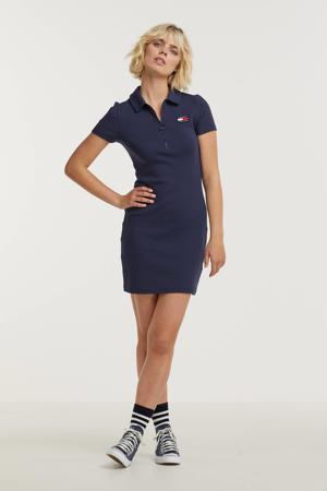 jurk TJW ESSENTIAL BADGE POLO DRESS met biologisch katoen donkerblauw