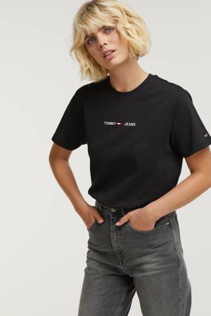 T-shirt TJW LINEAR LOGO TEE van biologisch katoen zwart