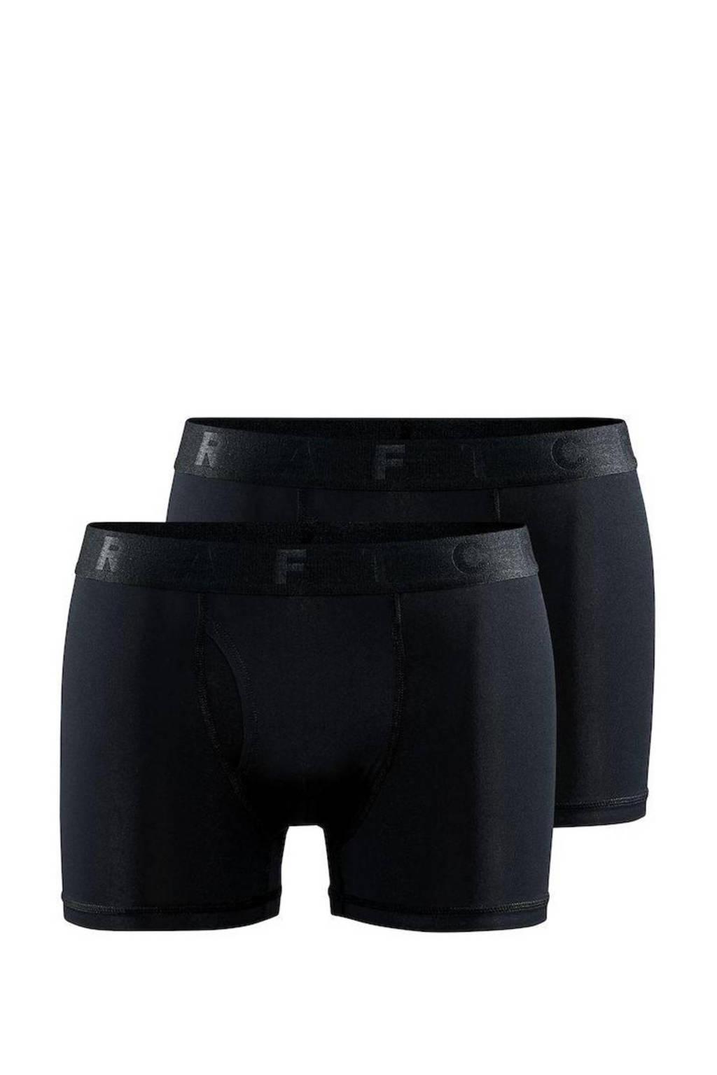 Craft sportboxer Core Dry 3 inch zwart (set van 2), Zwart