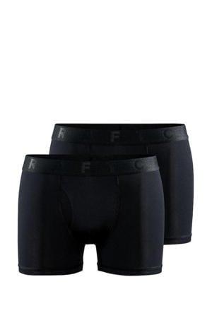 sportboxer Core Dry 3 inch zwart (set van 2)