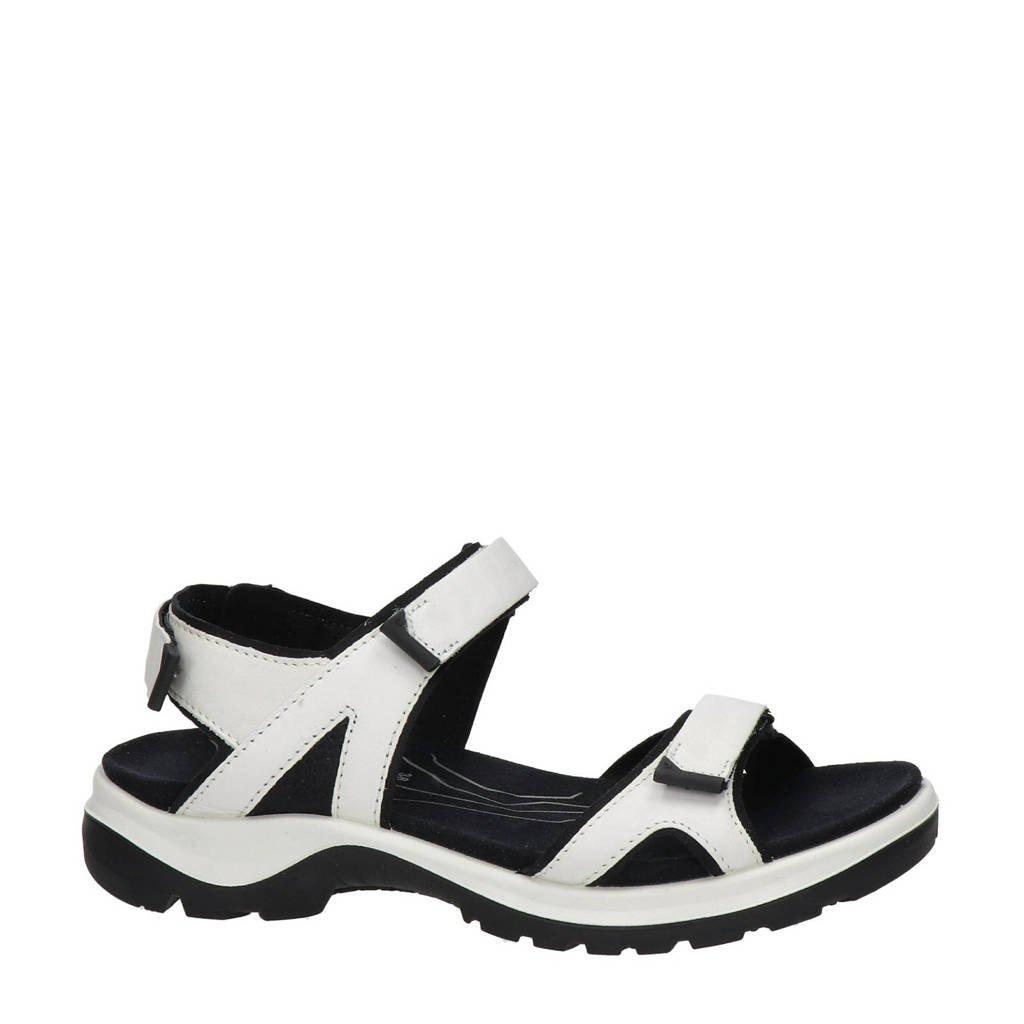 Ecco Offroad  leren outdoor sandalen wit, Wit