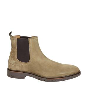 suède chelsea boots beige