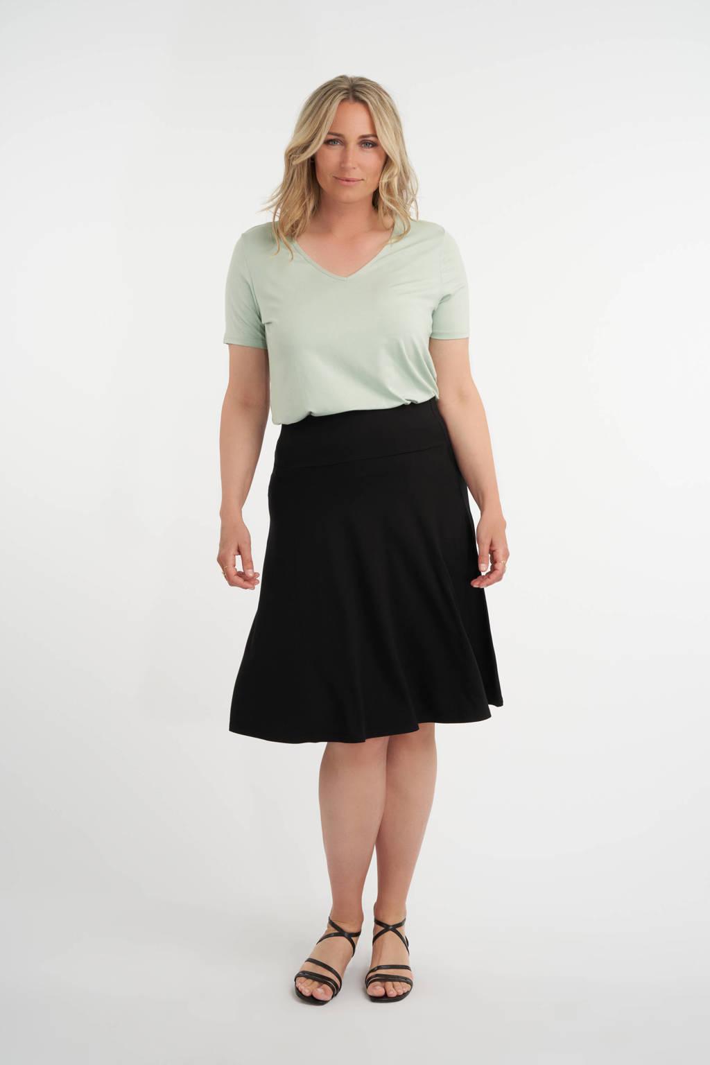 MS Mode A-lijn rok zwart, Zwart