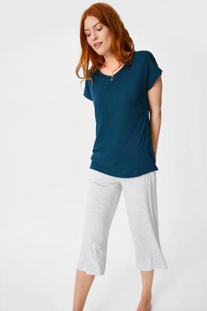 pyjama donkerblauw/grijs