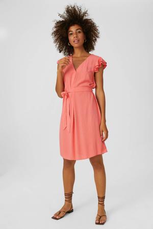 jurk met ruches roze