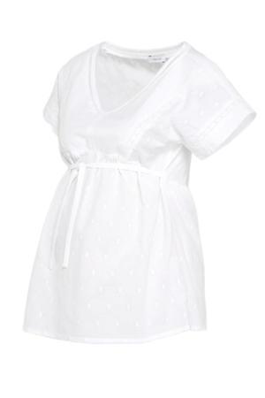 zwangerschapsblouse van biologisch katoen wit