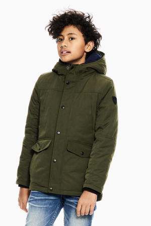 winterjas army groen