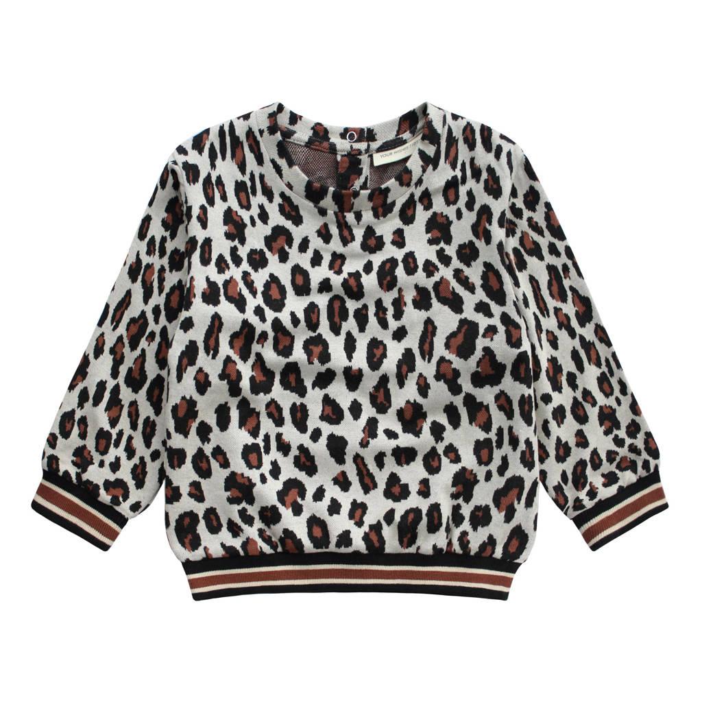 Your Wishes sweater Brune met all over print grijs/brique/zwart, Grijs/brique/zwart