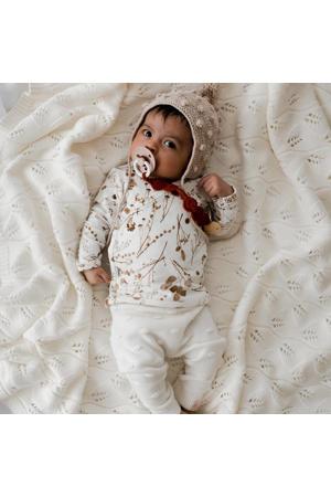 newborn longsleeve Garlande off white/lichtbruin
