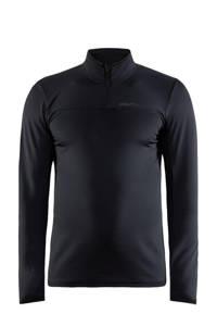 Craft   sportshirt Core Gain Midlayer zwart, Zwart