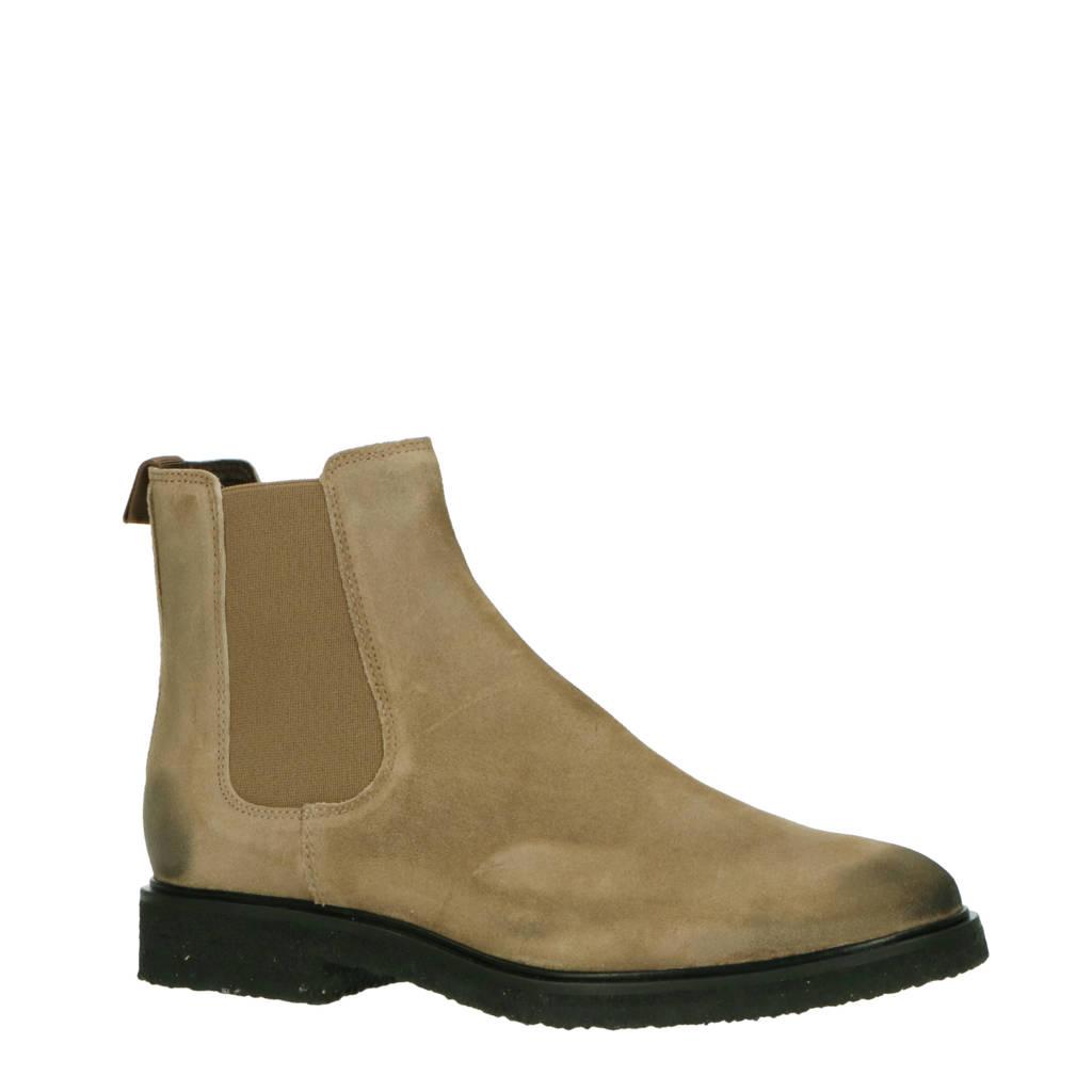 Goosecraft Chet  leren chelsea boots beige, Beige/Ash