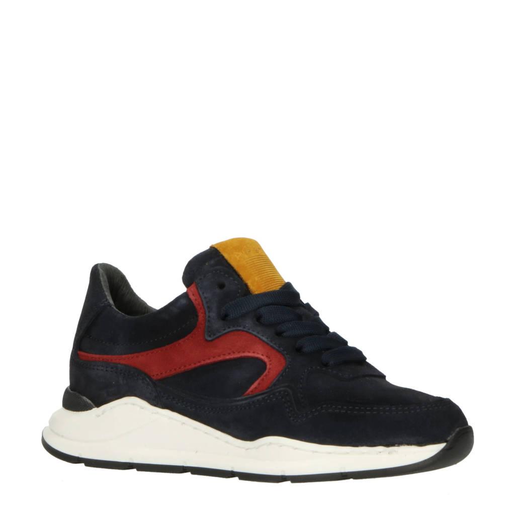 Hip H1355  nubuck sneakers donkerblauw, Donkerblauw