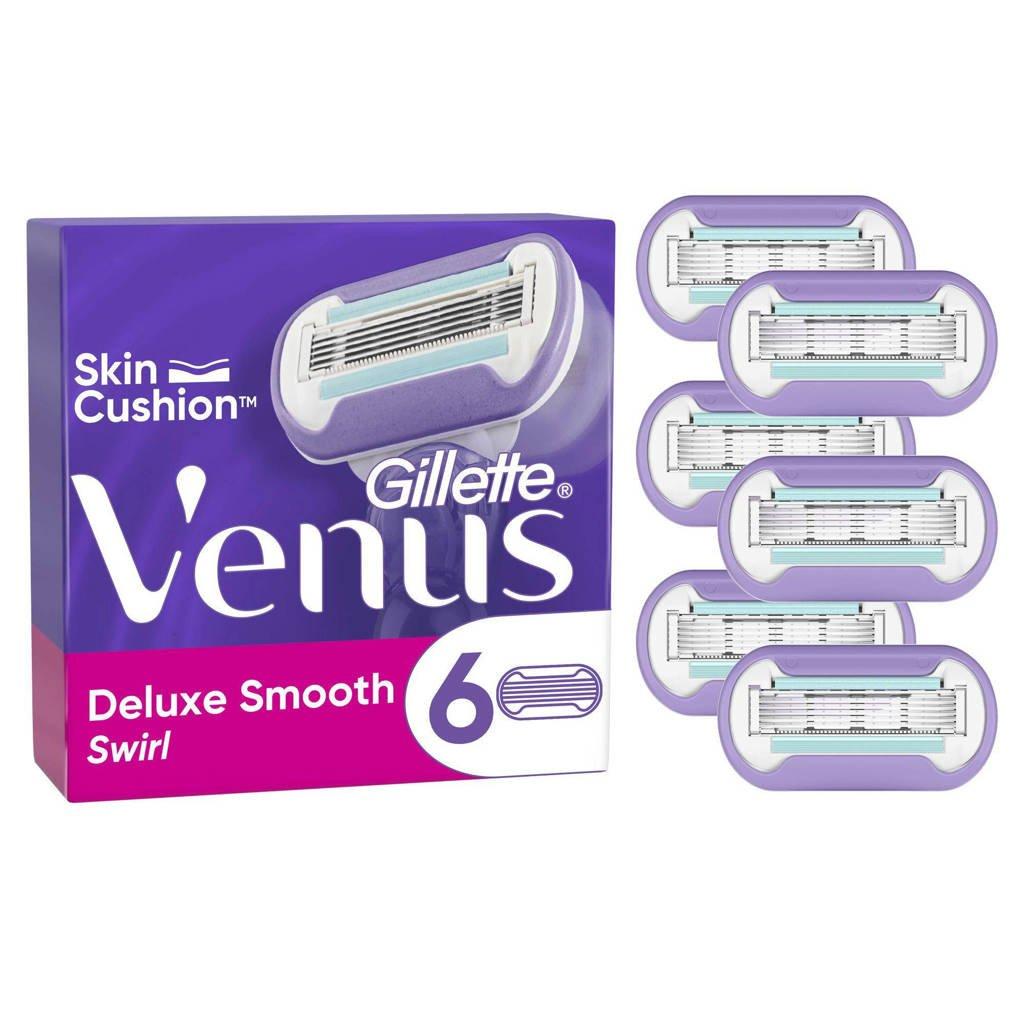Gillette Venus Deluxe Smooth Swirl navulmesjes - 6 stuks